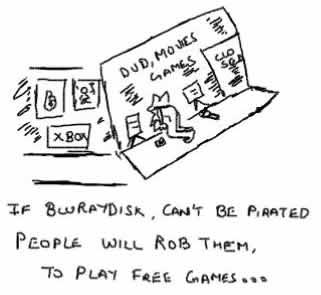 Bluraydisk, dvd, games, piracy, anti-piracy