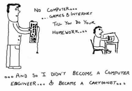 Cartoonist, Computer Engineer, Humor, Funny, Cartoon, comic