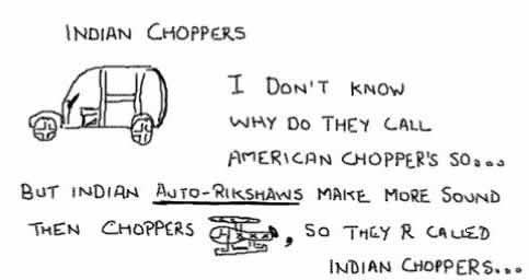 Indian Choppers,rikshaw,american orange county choppers,insane