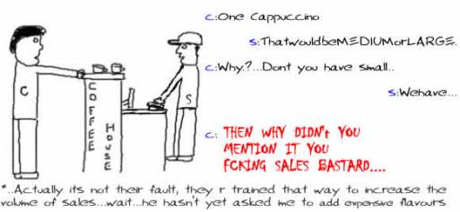 Medium or Large,Coffee,Marketing,sales,humor,funny