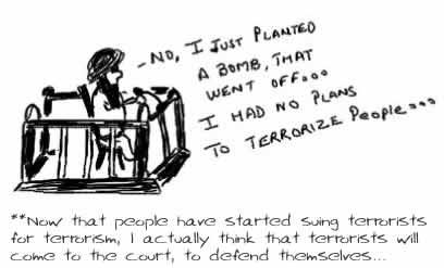 Sue the terrorists,bin laden, al qaeda, 9/11, subway blast,terrorism