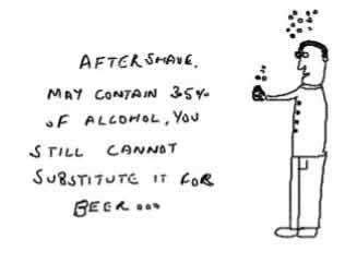 Aftershave lotionv/v,alcohol,beer,insane,jokes,cartoons
