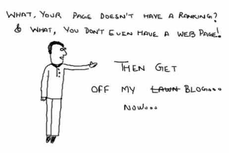 Get off myBlog lawn,page ranking,webpage,blog linking