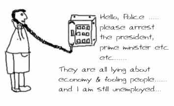 Lying abouteconomy,inflation,economic slowdown