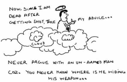 NeverArgue,advice,armed man,joke,insane,webcomics