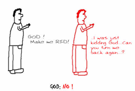 No Kidding withGod,insane stupid cartoons,black and red