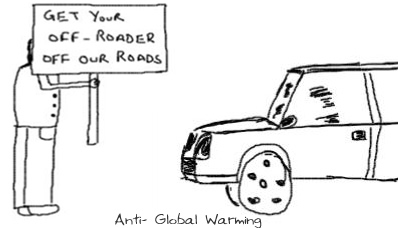 Anti against Global Warming,Environment,Eco-Friendly,green fuel,SUV off-roader pollution