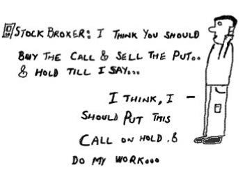 Call Put Options,buy sell hold,stock markets,money,equity derivatives cartoon