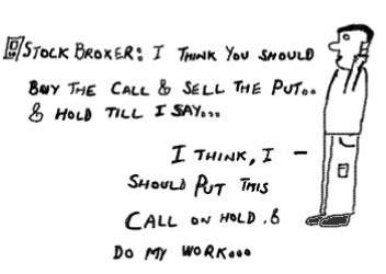 Call PutOptions,buy sell hold,stock markets,money,equity derivatives cartoon