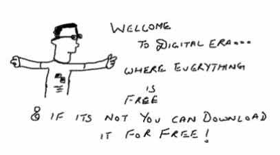 Digitalera age,Data piracy,free downloads,illegal torrents p2p,funny,technology internet