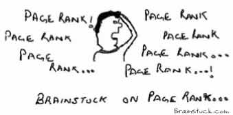 Brain is stuck on PageRank,brainstuck,blogs page rank traffic how to,insane humor