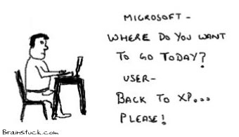 Back toXP, Microsoft Where do you want to go today, Vista OS, Operating system, linux