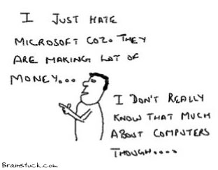 HatingMicrosoft, Anti Windows, Against Bill Gates, Microsoft Sucks cartoons, satire, insane toons