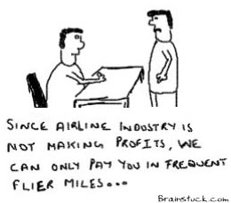Salary in Frequent Fliermiles, Pay in aviation airline industry