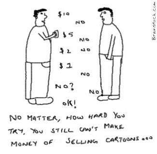 Making Money ofCartoons,Selling Art,