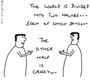 The Other Half isCrazy,Mad World Cartoon