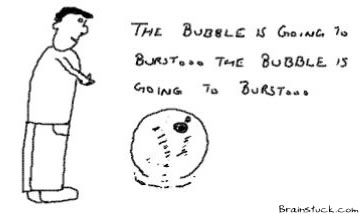 The Bubble willburst, Economy, Stock market, realty, Internet, Web 2.0, Burst