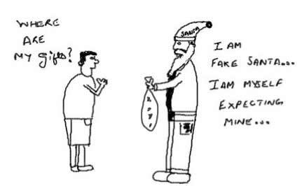 Fake Santa,Xmas,Christmas,Santa Claus,Gifts