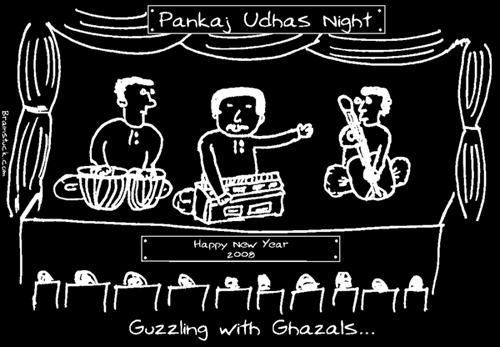 Pankaj Udhas Cartoon for club newsletter
