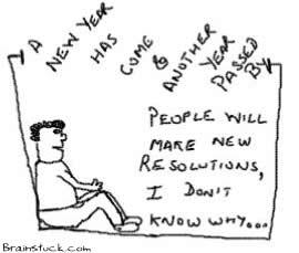New Resolutions,New Year Cartoon,
