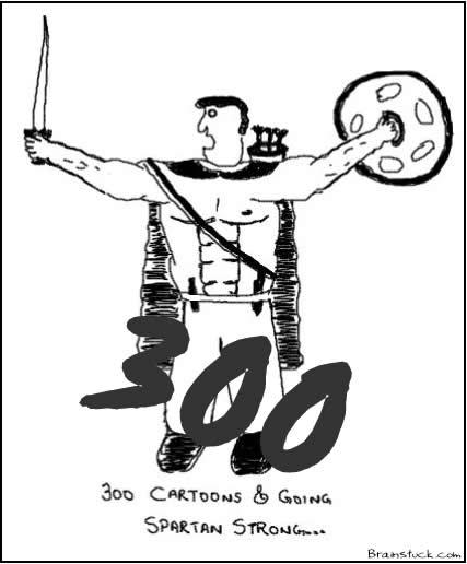 300th Cartoon,300th Post at Brainstuck.com