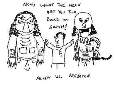 Alien Vs Predator, 20th Century Fox, The Movie, AVP on Earth,Humans,Battle,Fight