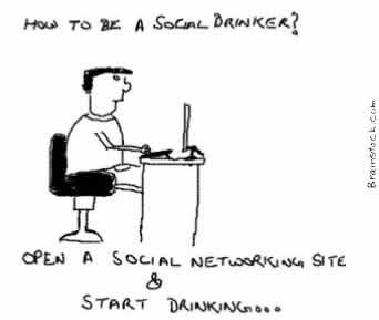 Social Drinker,Social networking sites,Drunkard,Alcohol,Rehabilitation