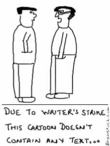 Writer's Strike,No text,Blank Cartoon,Silent Comic,Insane