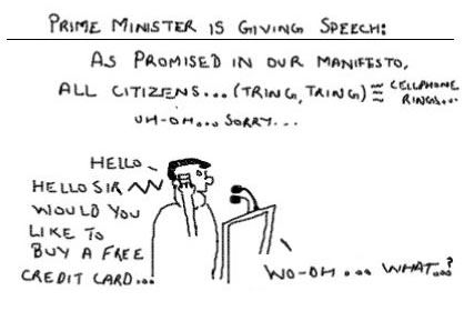 Would tou like to buy a Credit card, Prime Ministers Speech,Telemarketing cartoons,National Do not call registery