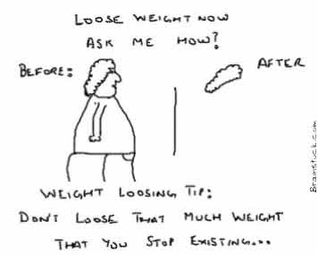 Loose Weight Now Ask me How,Weight Loss Tip,Health Cartoons,Humor,Insane