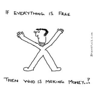 If everything is free then Who is making money,Free,Open source,Paid