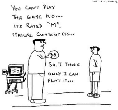 Mature Content Rated M, Kids can't play while Fathers can, Games, Computer Games,Video Games,Consoles