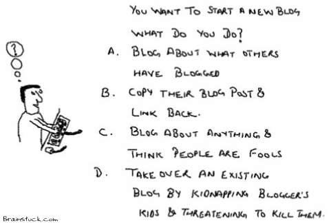 What do you do to Start a blog,Copy other blogs