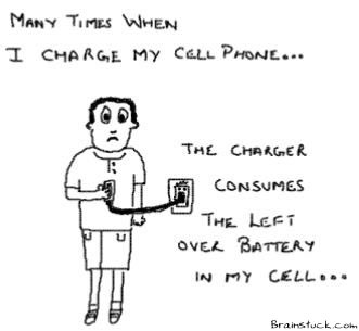 Cellphone Charger,Charger consumes cells battery