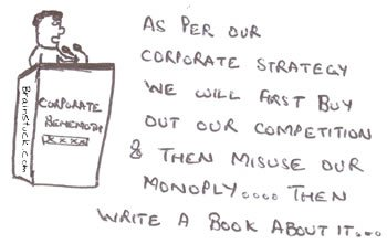 Corporate Strategy,Behemoth Strategy,Corporations,Business,Monopoly,EU,Write a book