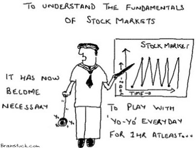 To understand the Fundamentals of Stock Market, it has now become necessary to play with Yo-yo,Cartoons,Sensex,Nifty,Nasdaq,Dow Jones,Indices,S&P