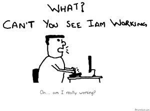 Can't you see I am working,Work cartoon