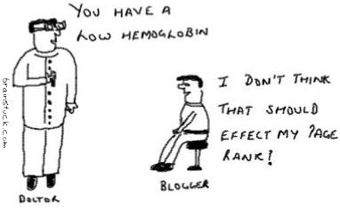 Hemoglobin and PR, I don't think low hemoglobin effects my page rank