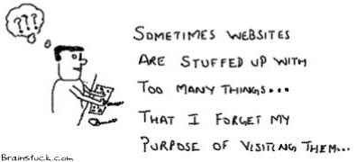 Stuffed up websites, Forgetting purpose of visiting a site