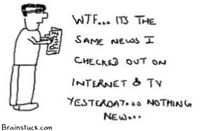 NewsPrint, Print Media, delayed news, Death of paper,News paper, webcomic