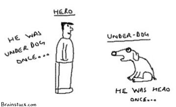 Hero is underdog is hero,Public figure,webcomic
