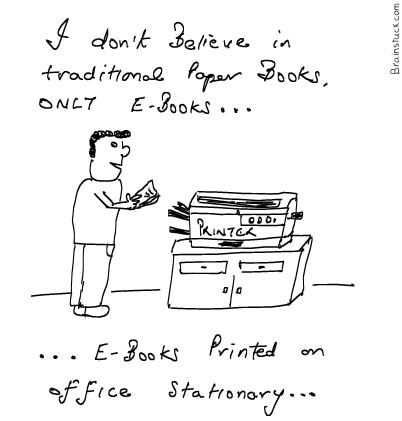 E-books printed on Office stationary, Personal Office use, Cartoon
