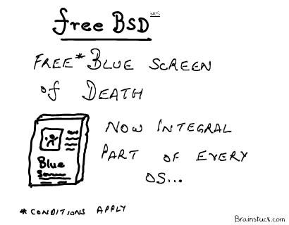 FreeBSD,FreeBSoD, Blue Screen of death,Microsoft Windows,Operating System,Vista,Memory Dump,Crash,Computer
