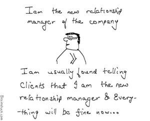 New Relationship manager, Management cartoons