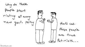 Patriots or Pat riots, India, Rioting,Communalism, quota, reservation