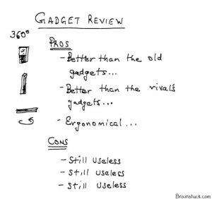 Still useless gadgets, Gadget reviews, Previews, cartoons