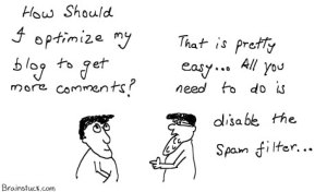 Blog Optimization, Increasing Comment rate, Blogging Cartoon