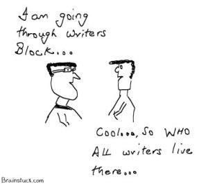 Writer's block, Where do writers live