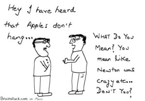 Apple Macintosh doesn't hang defying newton's law of gravity