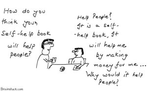 Self Help book for people, Money for author